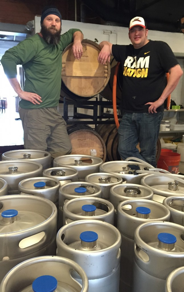 Mike Brandt (left) and Ryan Mitchell are opening Garden Grove Brewing Co. in Carytown. Photo by Lee Graves