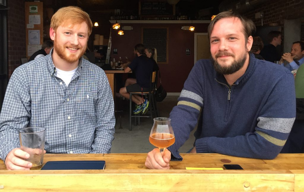 Stefan Mcfadden (left) will do the brewing and Aaron Thackery will manage the taproom at the Three Notch'd RVA Collab House in Scott's Addition. Photo by Lee Graves