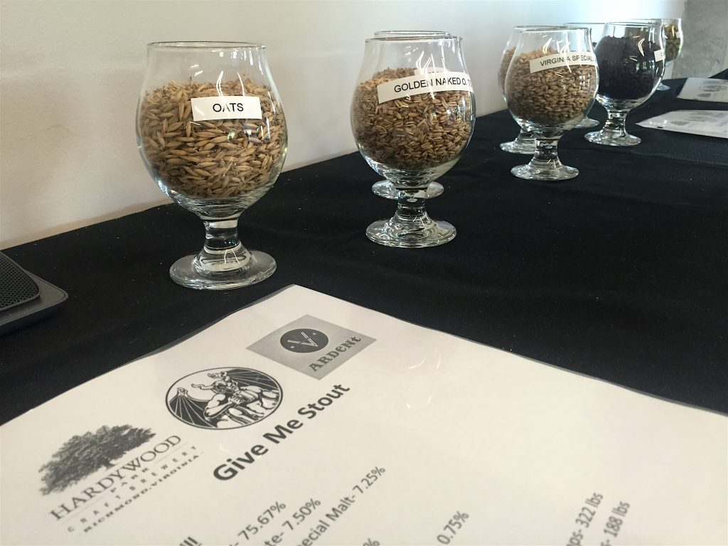 "Brewing an imperial stout requires a hefty and diverse grain bill, and ""Give Me Stout"" is no exception. Photo by Lee Graves"